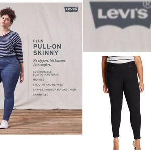 Levi's   🆕️ BLACK pull on stretchy denim jeans 24